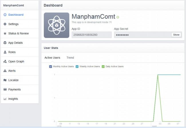 [Facebook]Hướng dẫn cách tạo App trên Facebook, cách lấy App ID và App Secret Hinh-63-650x448