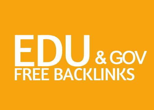 get free gov edu backlinks